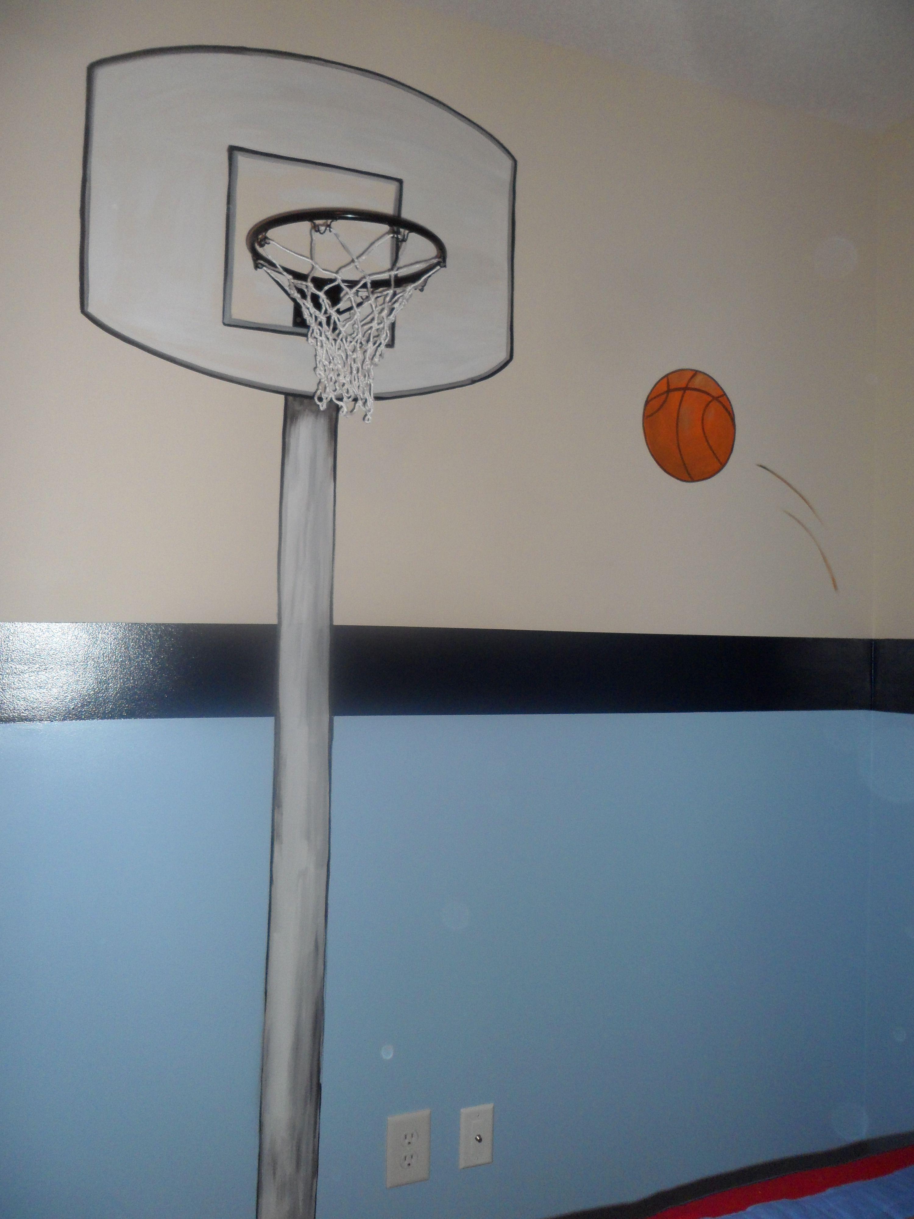 Share for Basketball mural
