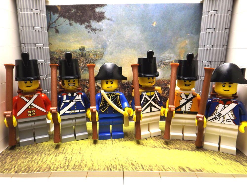 3x LEGO Napoleonic British, Prussian, Swiss & French pack #1