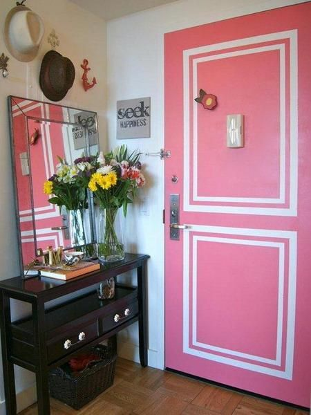 48 Creative Interior Door Decoration Ideas Personalizing Home Fascinating Apartment Design Painting