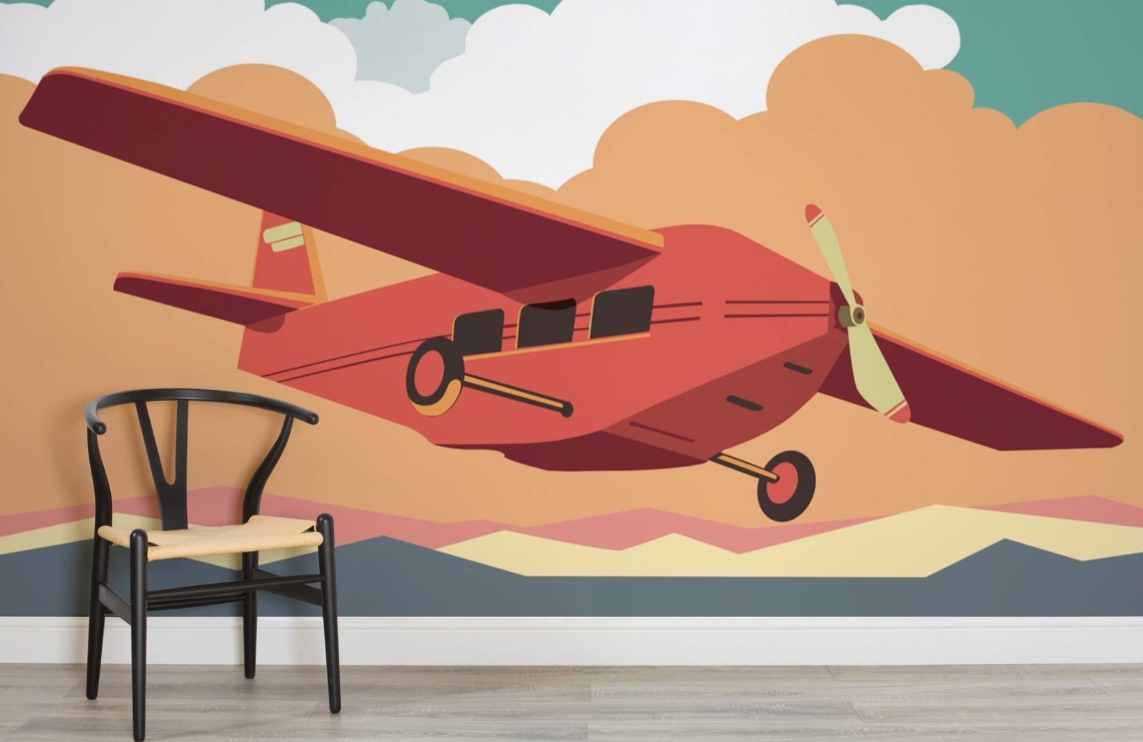 Best Cool Vintage Plane Wall Mural Wall Murals Childrens 400 x 300