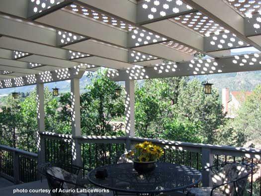 lattice patio vinyl lattice panels