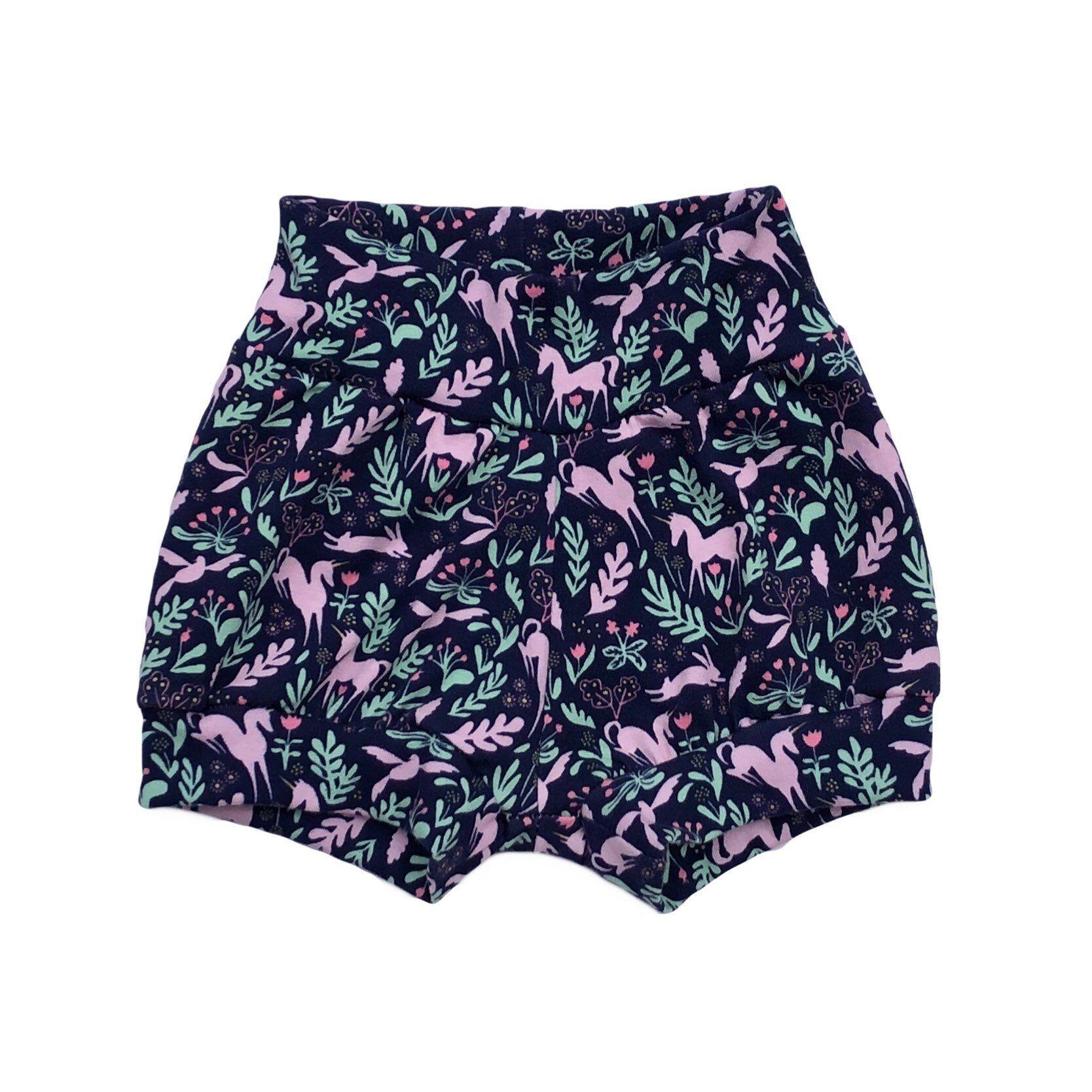Magical Unicorn Shorties - kid shorts - Handmade Toddler shorts - Girl shorties - Baby Toddler Kid #toddlershorts