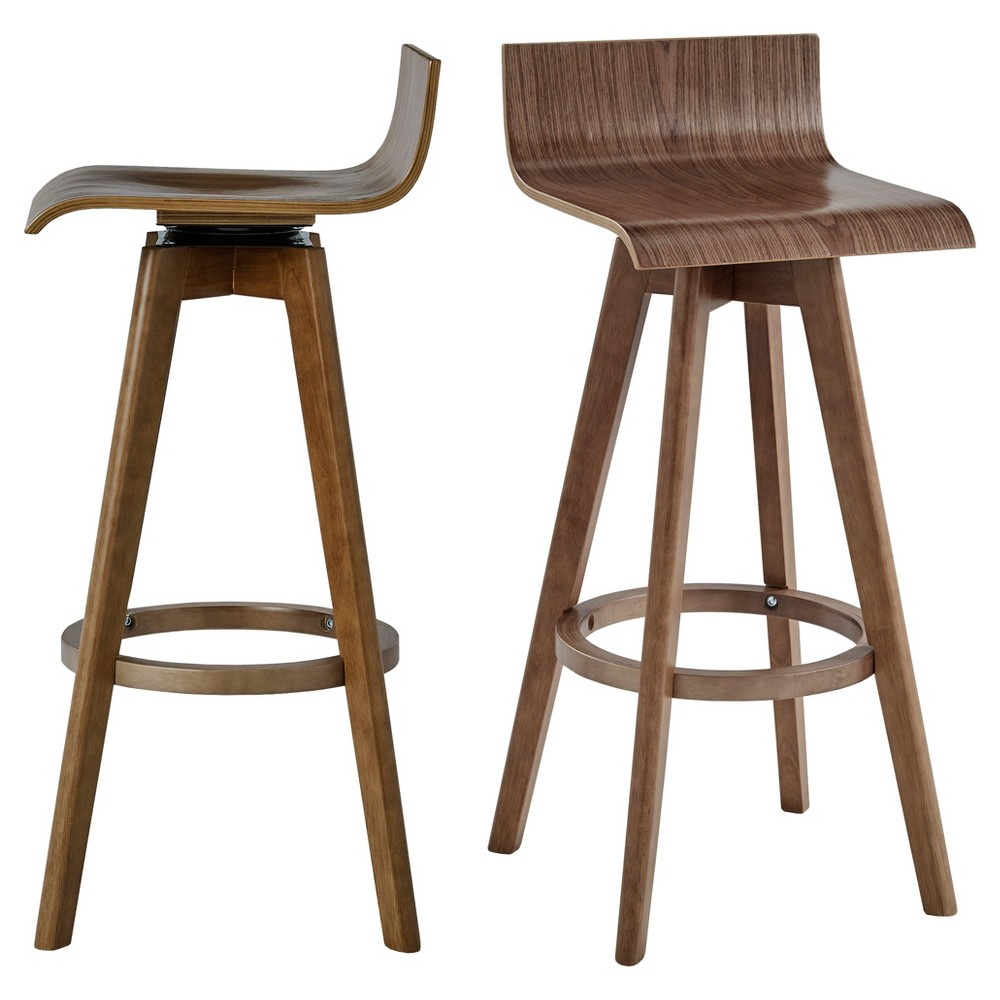 Counter And Bar Stools - Inspire Q Toasted Walnut - Inspire Q, Walunt