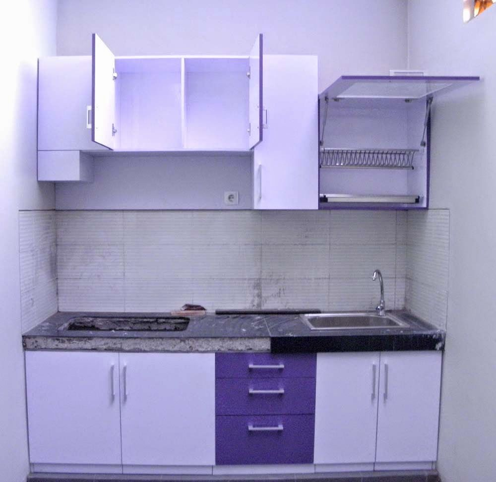 Minimalist Purple Kitchen Set Model
