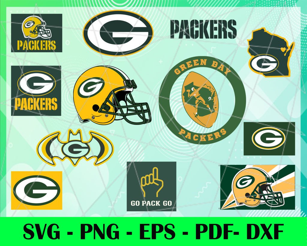 Green Bay Packers Logo Svg Eps Dxf Png Instant Download Craft Supplies Tools Prints Digital Prints Green Bay Packers Team Football Logo Trong 2020