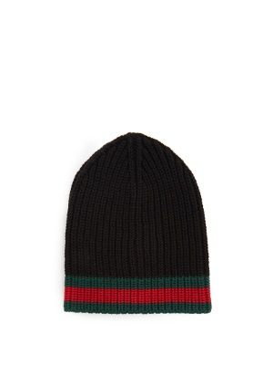 2a5501870e4 Click here to buy Gucci Striped-edge ribbed-wool beanie hat at  MATCHESFASHION.COM