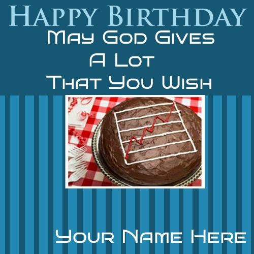 Write Your Name On Happy Birthday Nice Greetings Cards Birthdaycard Wishes