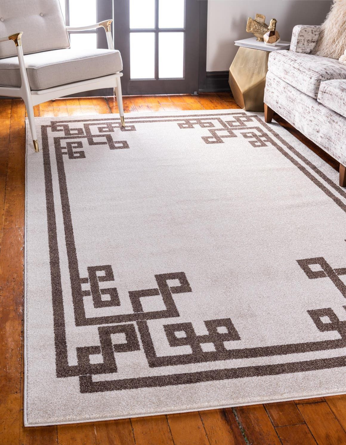 Beige Greek Key Area Rug In 2020 With Images Unique Loom