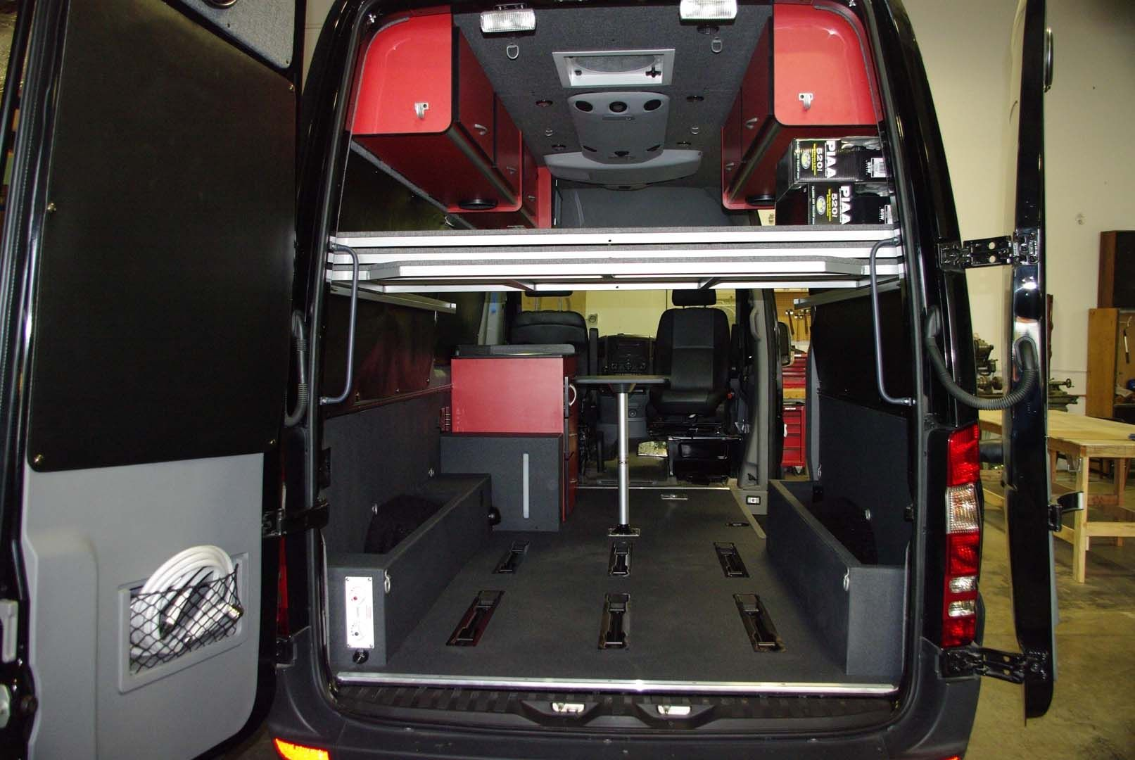 Camper Conversion Sprinter Van Storage