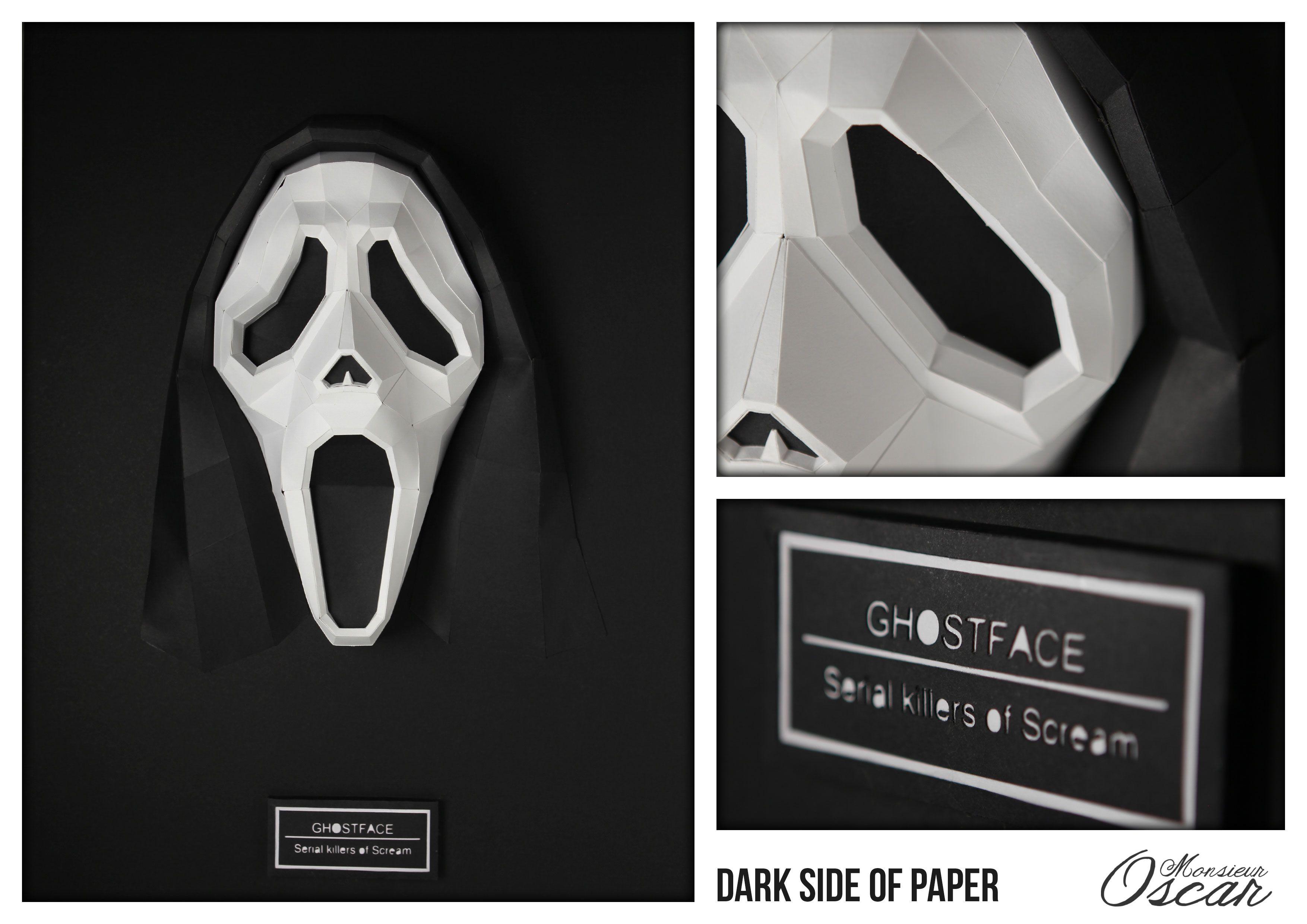 """""""SCREAM"""" de la série """"Dark side of paper"""" by Monsieur Oscar sera présent à #condensedkids by @atelier130 du 10 au 23 Février à l'Espace Beaurepaire  https://www.facebook.com/events/1438048496412211"""