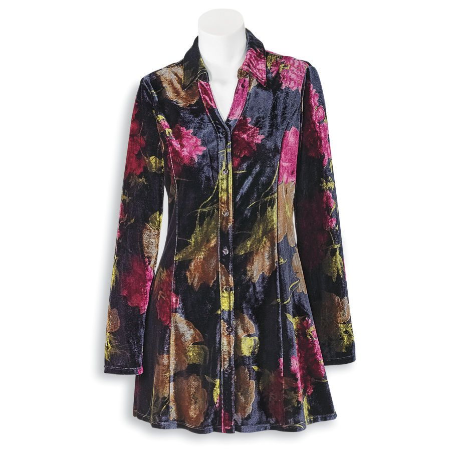 2a201e32af0 Painted Floral Velour Tunic #Serengeti | Shopping | Tunic tops ...