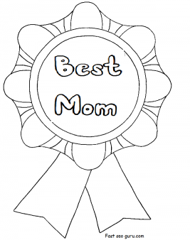 printable best mom mothers day coloring in pages for kids to do
