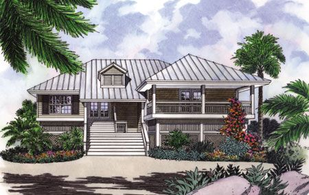 Plan 6376hd A Key West Cutie In 2021 Beach House Plans Beach Cottage Style Small Beach Houses