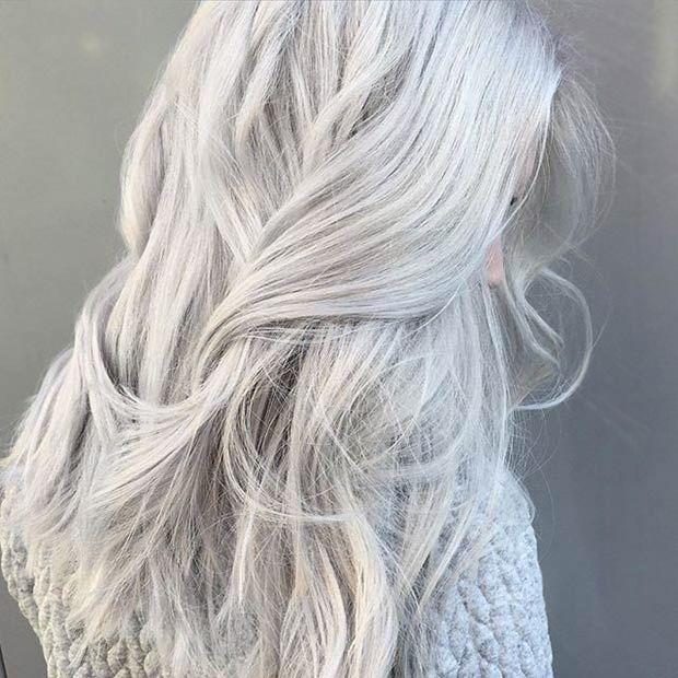 Light Silver Grey Hair Colors