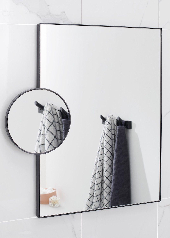 Miroir déco de salle de bains FORGE  Miroir grossissant, Miroir