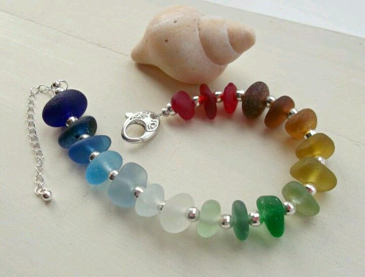 Seahams Seaglass Jewelry-she makes beautiful pieces, every detail down to the filagree toggle!