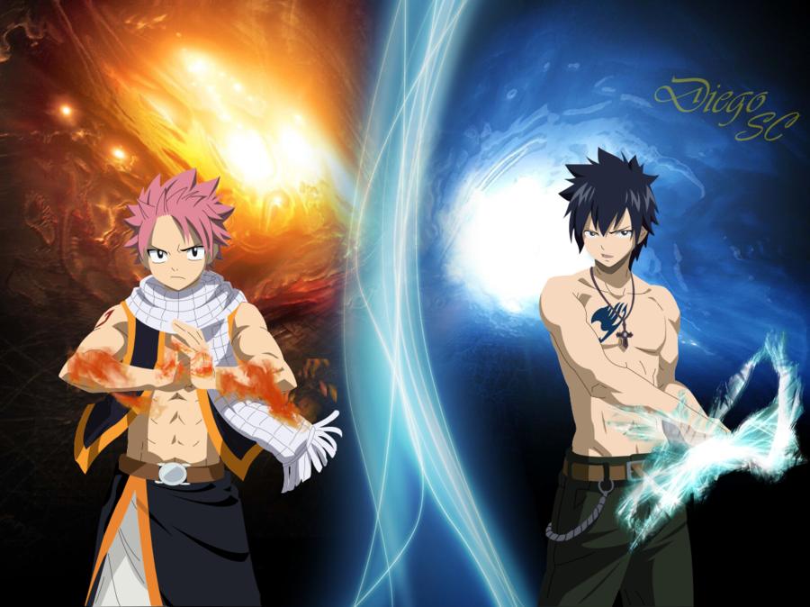 Fairy Tail Natsu Vs Gray Natsu And Gray Fairy Tail Anime Fairy Tail
