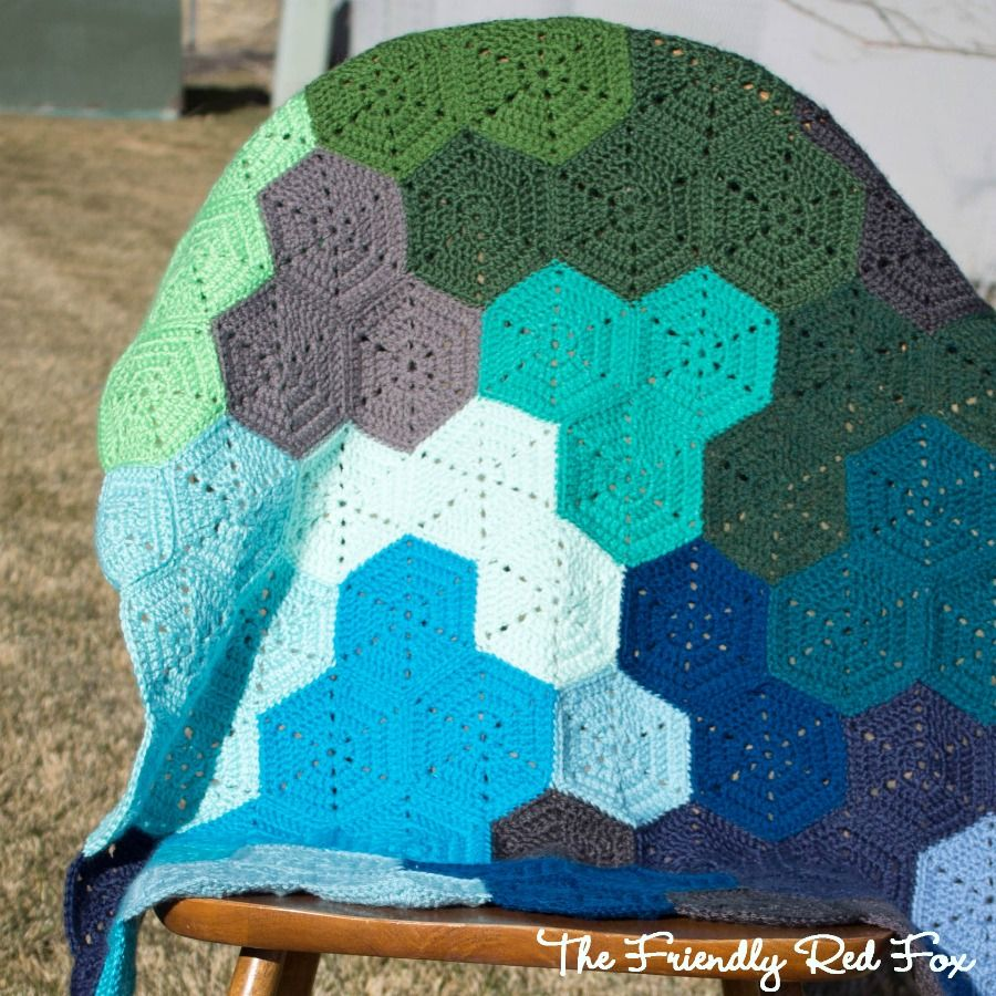 I am finally getting to writing up the details on this crochet the friendly red fox crochet hexagon blanket pattern and tutorial bankloansurffo Image collections