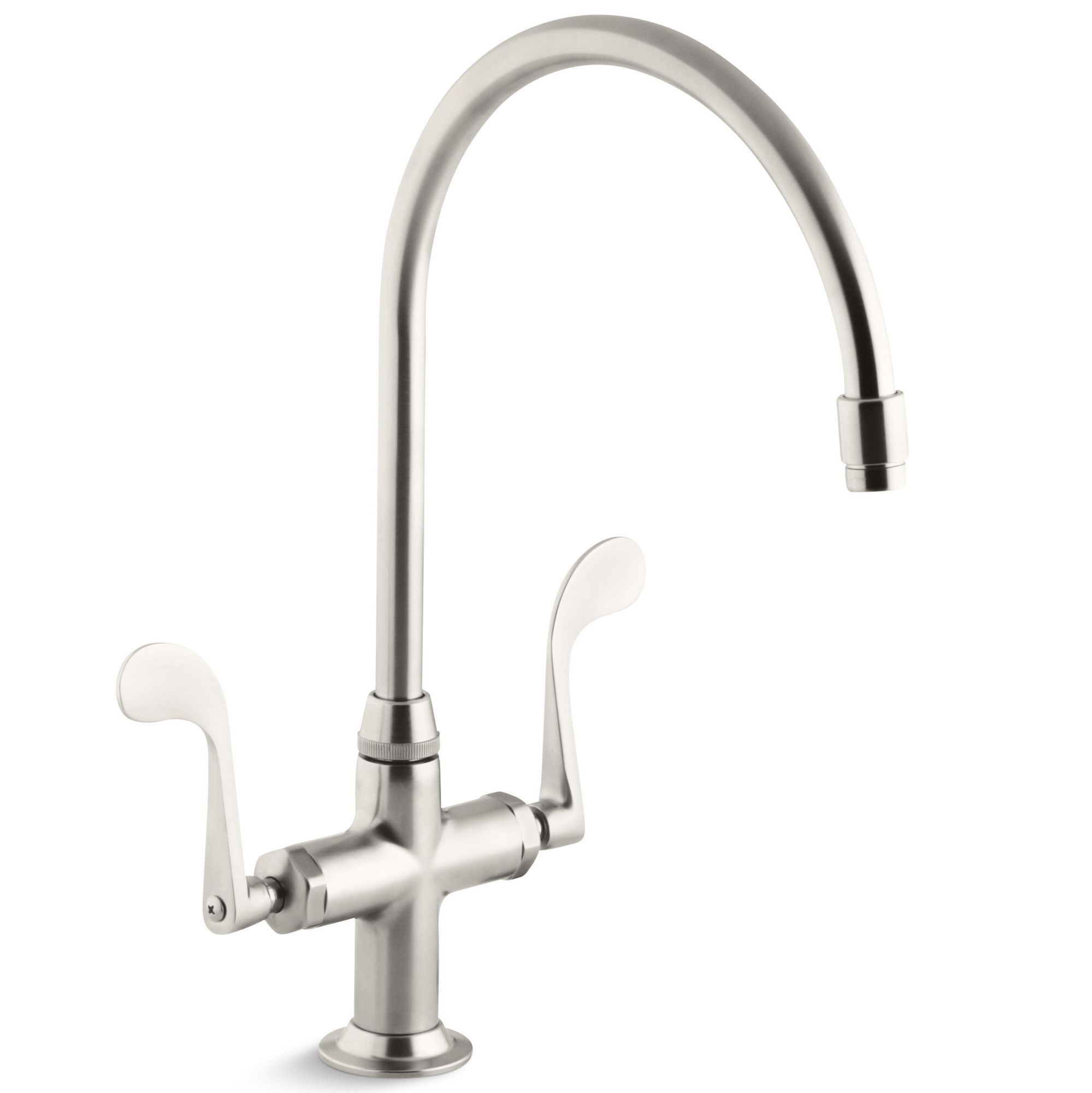 Essex Single Hole Kitchen Sink Faucet With 9 Gooseneck Spout Kitchen Sink Faucets Sink Faucets Stainless Steel Kitchen Faucet