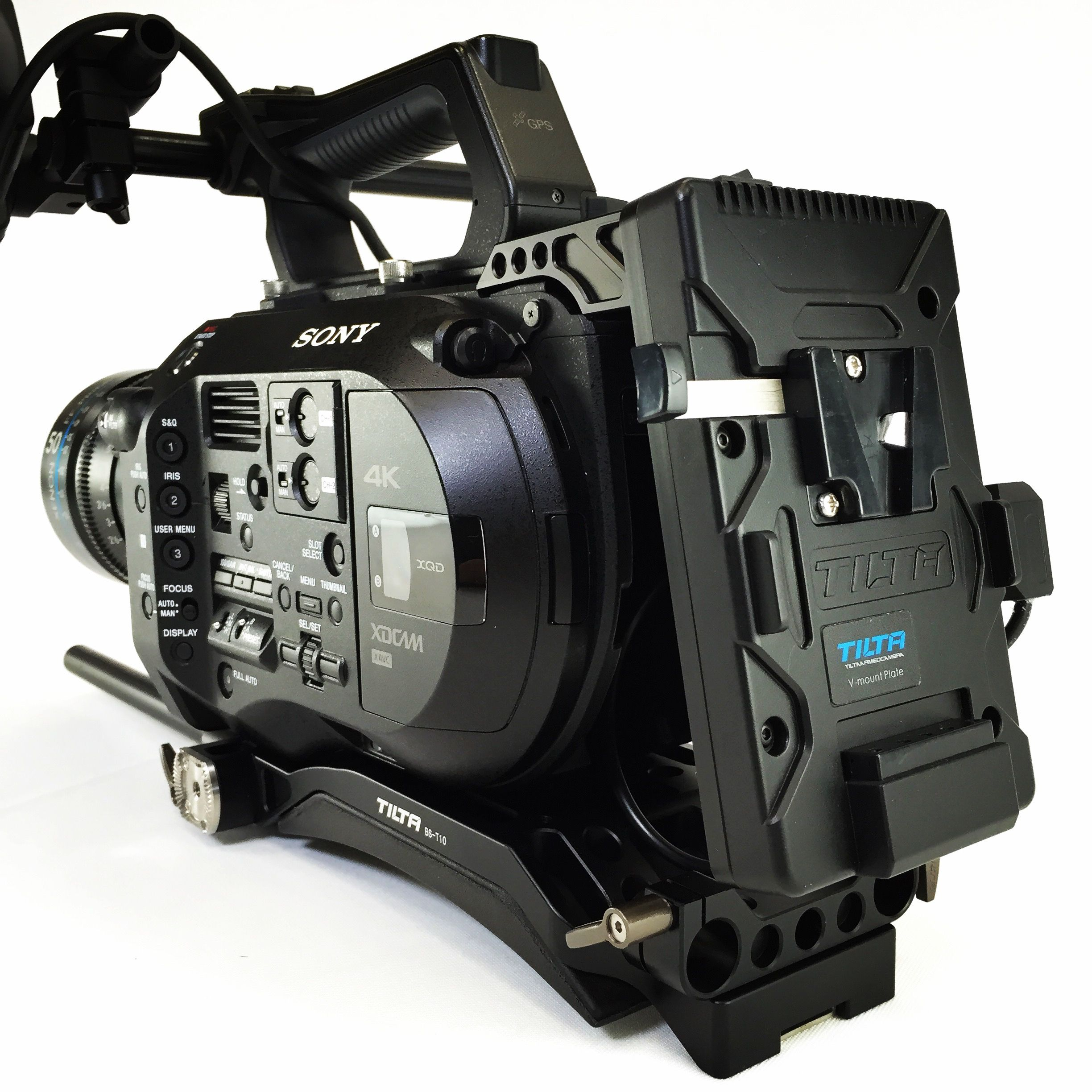 Sony FS7 with the Tilta FS-T01 V-Mount Battery Adapter Plate $259 & Tilta BS-T10 Baseplate $549 0% 12 Month Lease Financing Available on FS7 & FS7K Apply Online:  http://www.texasmediasystems.com/dll-leasing.php