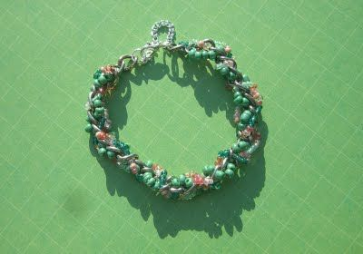 spring cherry bracelet - glass beads