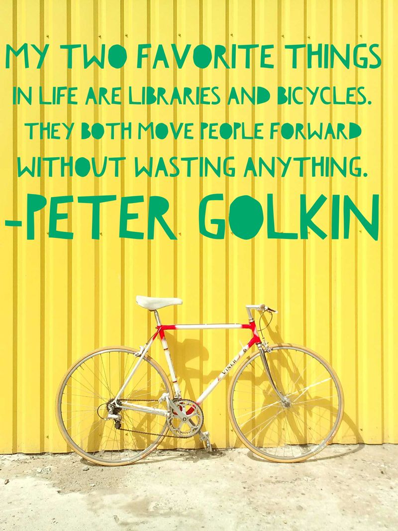 Angelika Baumgart my two favorite things in life are libraries and bicycles