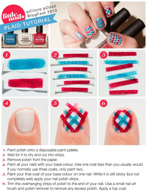 A Rather Involved Tute But Another Way Of Getting Designs Nicely Even On Your Nails Little Chevron Tutorial