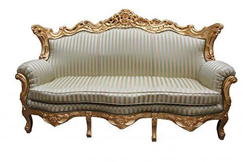 Amazonde Casa Padrino Barock 3er Sofa Master Jadegrün/Beige / Gold