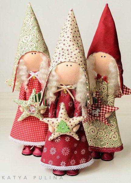 Noticias Adornos Navidad Tela Pinterest Navidad Manualidades - Adornos-de-navidad-con-tela