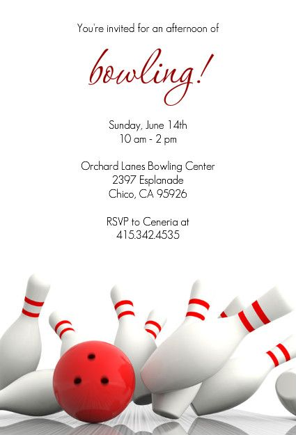 free evite for bowling party @ PurpleTrail Bowling party - bowling invitation