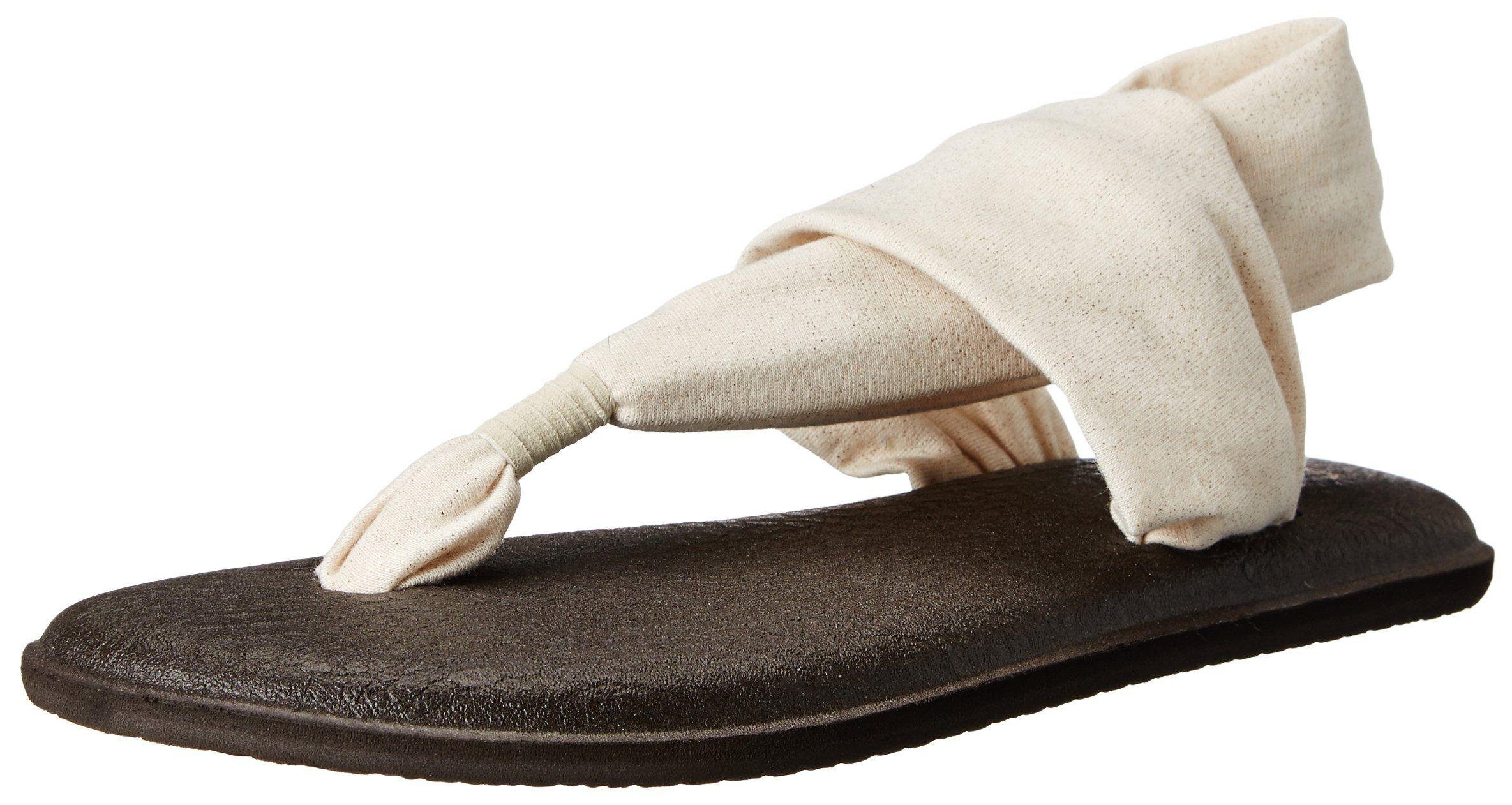 Sanuk Women's Yoga Sling 2 Metallic Flip Flop, Rose Gold, ...