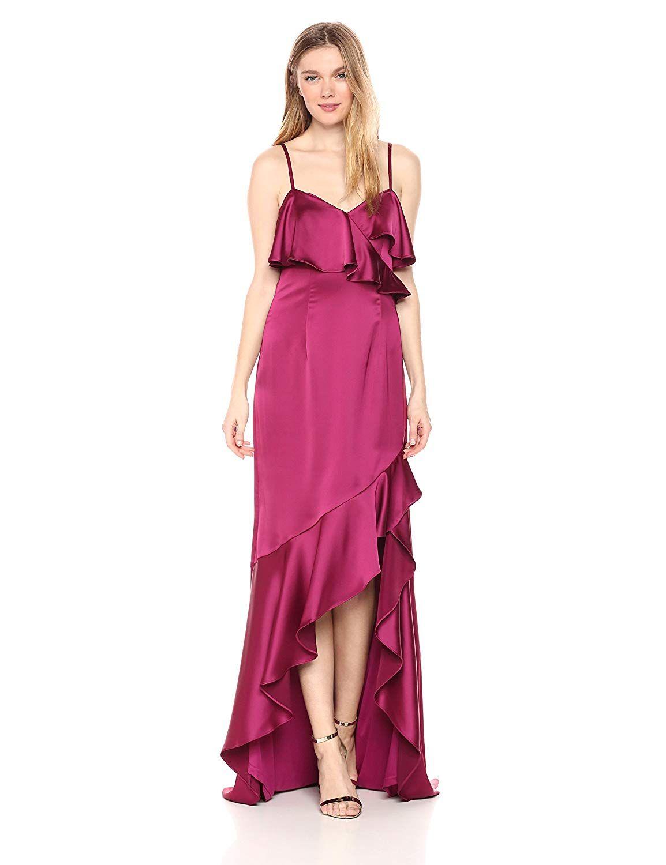 HOMEYEE Elegant Womens V Neck Sleeveless Floral Embroidered Split Knee Length Bodycon Cocktail Dress B431