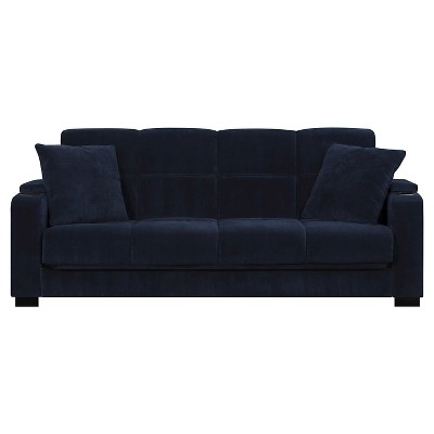 Susan Storage Arm Convert A Couch Navy Blue Velvet