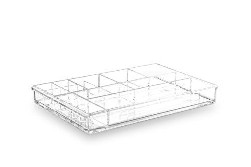 BINO The Jewelry Tray 12 Compartment Acrylic Makeup and Jewelry