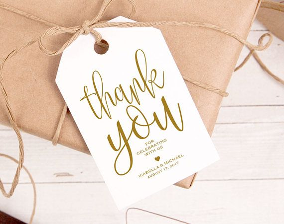 Thank You Tags Wedding Thank You Template Wedding Gold Thank You Tags Thank You Download Thank You Pdf Favor Thank You Tags Wpc 978 Gift Tags Wedding Gift Tags Thank You Printable
