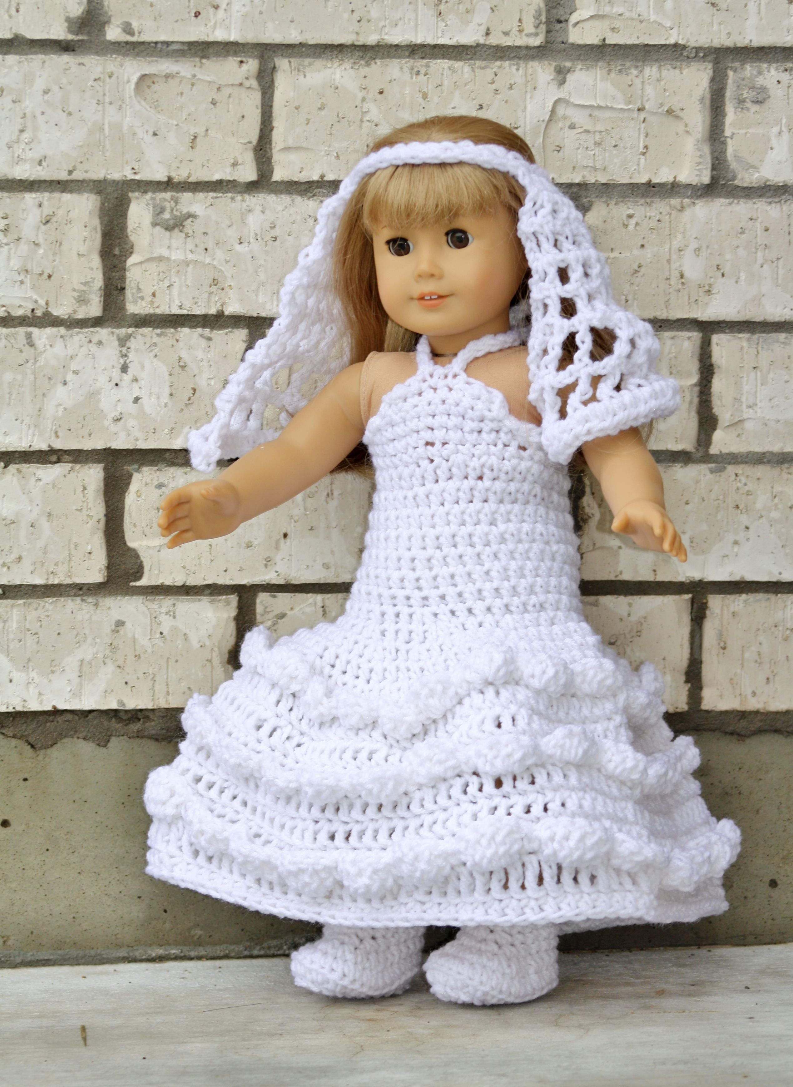 Wedding set I made for my daughter\'s American Girl doll. | Crochet ...