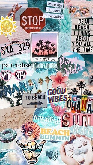 Summer Break Collage Poster by crumpetstrumpet