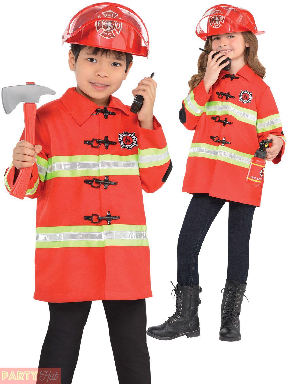 Fireman Sam Boys Fancy Dress Firefighter Uniform Book Week Kids Costume Outfit