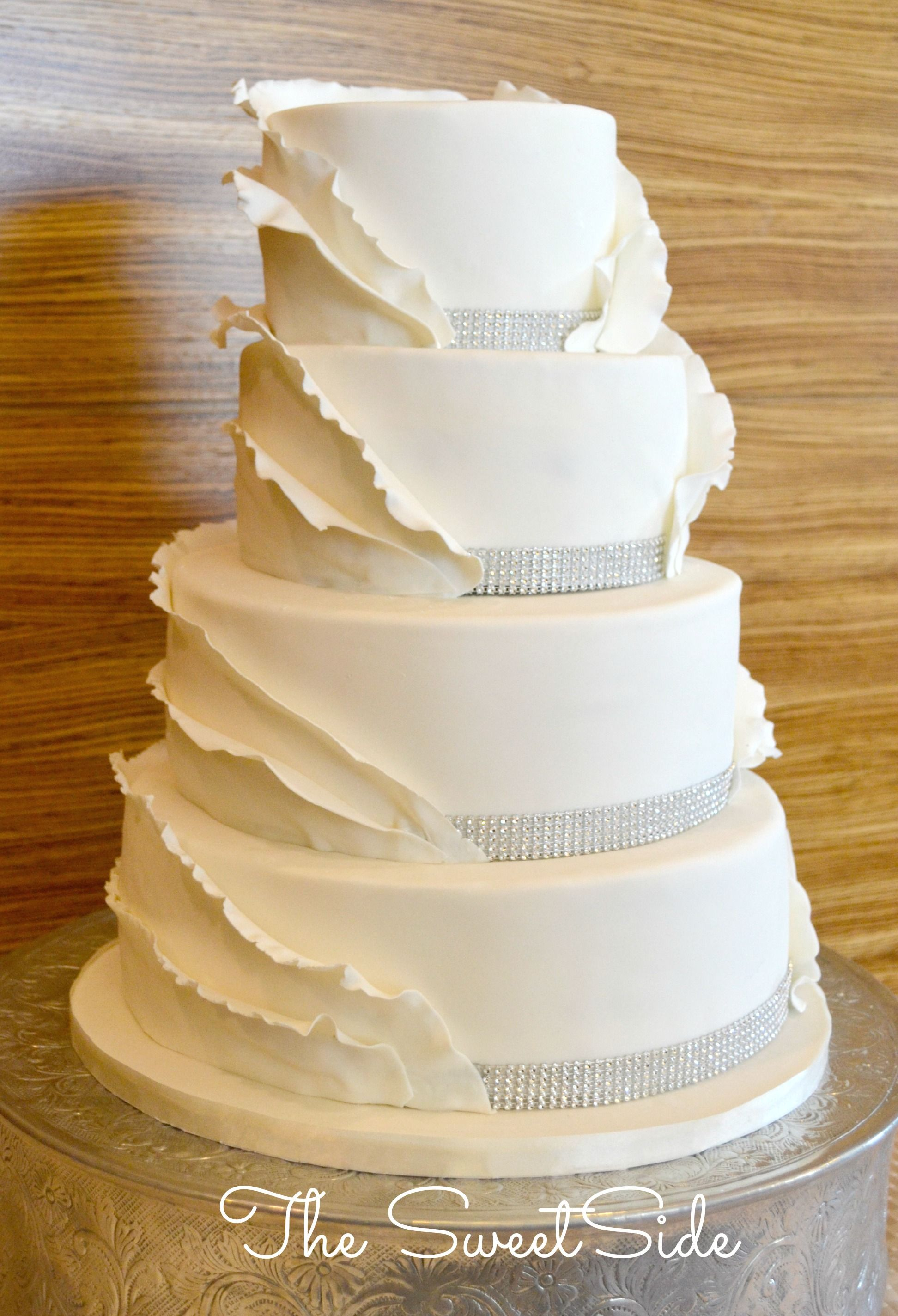 Couture Wedding Cake The SweetSide, Seattle, WA www