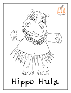 FREE Printable Coloring Pages Hippo Hula Hustle Chicken Cha And Piggy Paso So Much Fun