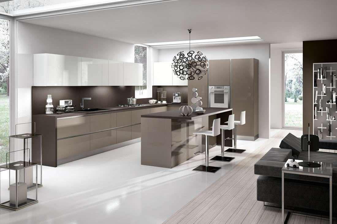 Cucina bianca top grigio awesome cucine moderne bianche e for Arredamento bianco e tortora