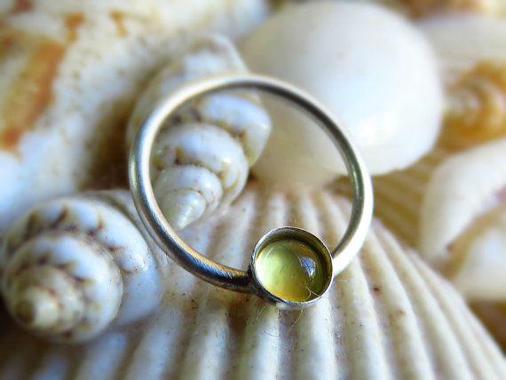 Real Septum Ring. Nipple Piercing septum ring by LarryJewelryShop