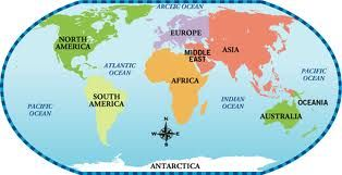 Continents Countries Big Secret Micro Computer - 7 oceans of the world map
