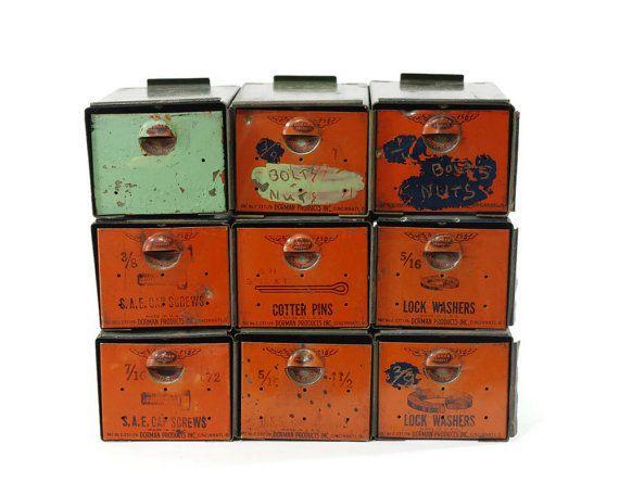 Vintage Industrial Parts Bin, Storage Cabinet, Dorman Products, Add A Bin  On Etsy