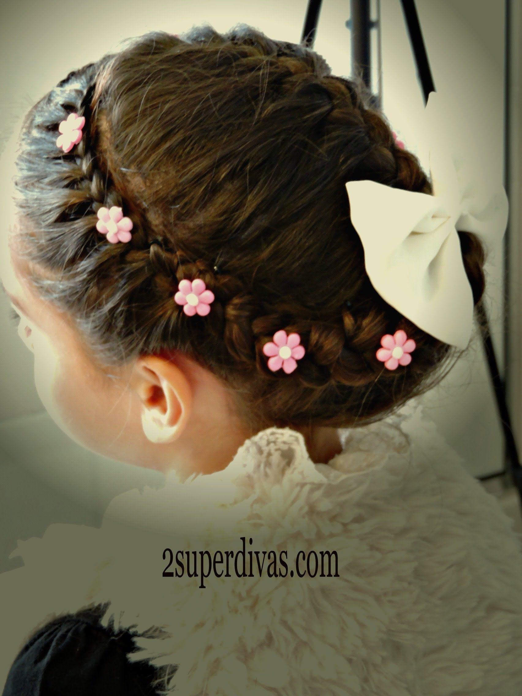 18 Peinados para nina bautizo con corona