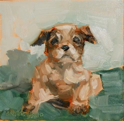 """Daily Paintworks - """"Mookie"""" by Brande Arno"""