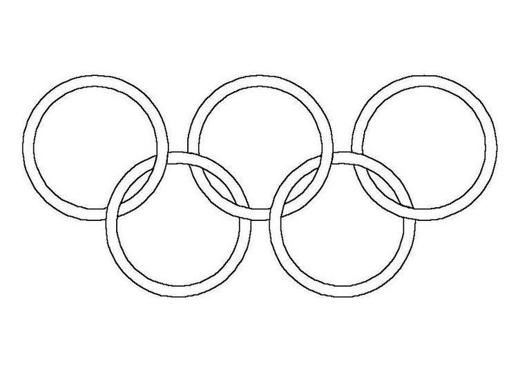 Pagina Para Colorir Aneis Olimpicos Com Imagens Paginas Para