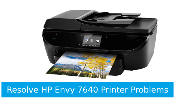 Fix HP Envy 7640 printer problems like connection problems, photo