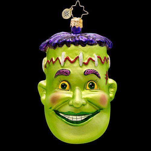 RADKO FREDDY FRANKIE Frankenstein Halloween Glass Ornament @ niftywarehouse.com #NiftyWarehouse #Frankenstein #Halloween #Horror #HorrorMovies #ClassicHorror #Movies