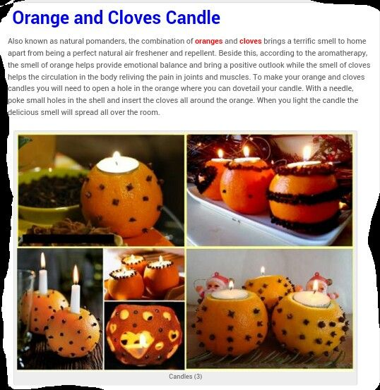 Orange & cloves candle ... aromatic!